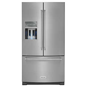 26.8 cu. ft. 36-Inch Width Standard Depth French Door Refrigerator with Exterior Ice and Water Platinum Interior