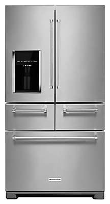 Kitchenaid Refrigerator White 25.8 cu. ft. 36-inch multi-door freestanding refrigerator