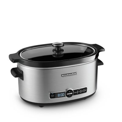 6-Quart Slow Cooker with Solid Glass Lid (KSC6223SS) | kitchenaid®