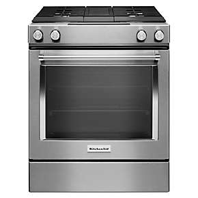 30-Inch 4-Burner Dual Fuel Downdraft Slide-In Range