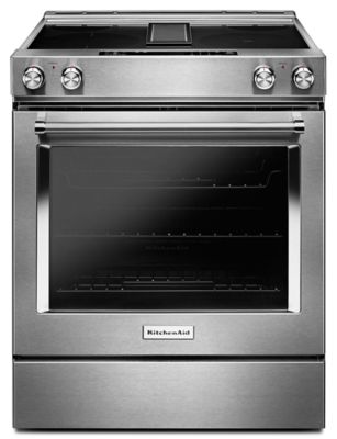 30 Inch 4 Element Electric Downdraft Slide In Range (KSEG950ESS) |  Kitchenaid®