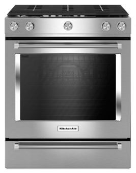 30-Inch 5-Burner Gas Slide-In Convection Range (KSGG700ESS ...