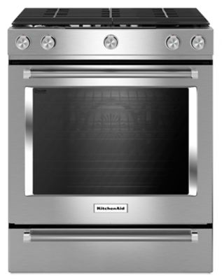 30 Inch 5 Burner Gas Slide In Convection Range (KSGG700ESS) | Kitchenaid®