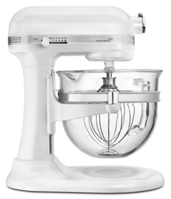 White Kitchenaid professional 6500 design™ series 6 quart bowl-lift stand