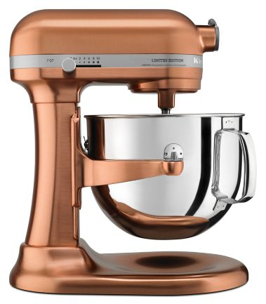 Limited Edition Pro Line Series Copper Clad 7 Quart Bowl Lift Stand Mixer Ksm7588pcp Kitchenaid