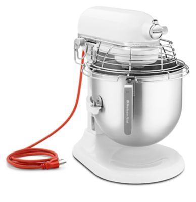 NSF Certified® Commercial Series 8 Quart Bowl Lift Stand Mixer With  Stainless Steel Bowl Guard (KSMC895WH) | Kitchenaid®
