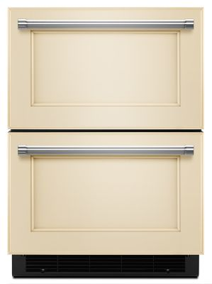 Great 24u0026quot; Panel Ready Double Refrigerator Drawer