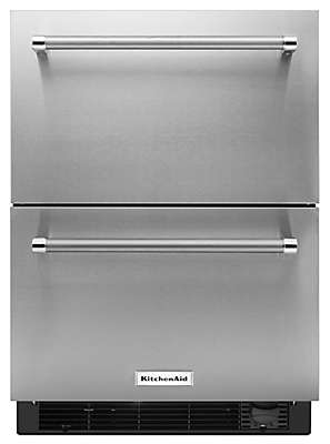 Stainless Steel Refrigerator Freezer Drawer