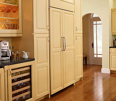 Overlay Panel Ready Allows The Refrigerator To Be Customized Match Surrounding Cabinets