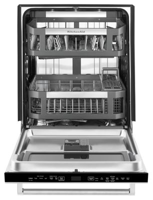44 DBA Dishwasher With Window And Lighted Interior (KDTM804ESS) | Kitchenaid ®