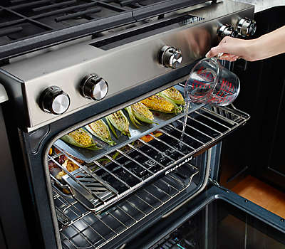 30 Quot 4 Burner Stainless Steel Slide In Range Kseg950ess