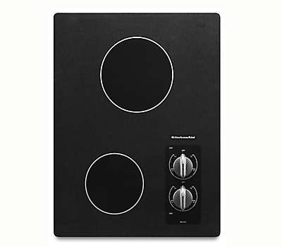 2 Burner Black Electric Cooktop Kecc056rbl Kitchenaid